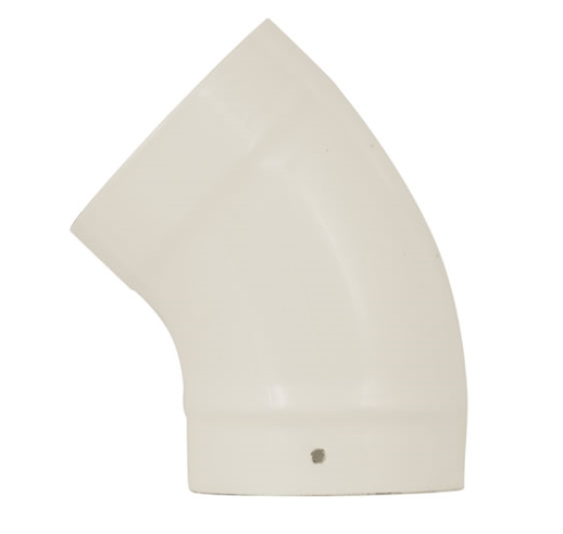 125mm 5 x 135 Degree Cream Bend with Door for Multi fuel Woodburning Stoves SALE