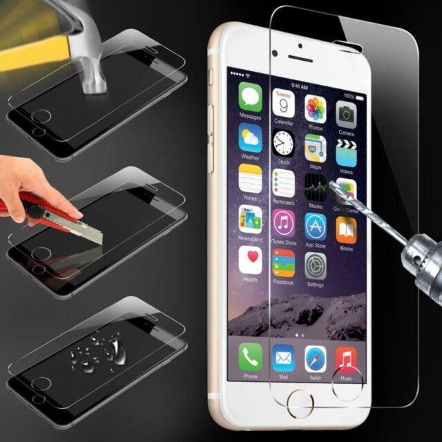 Tempered glass VERRE TREMPE film pour iPhone 2 4 4S 5 5C 5S SE 6 6S 7 8 X PLUS