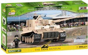 Playset CARRO ARMATO TIGER 131 SD.KFZ. 1812 VI Ausf. E COBI 2519 Tank Museum