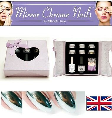 Mirror Chrome Effect Nail Powder Pigment Polish New Nails Brand New UK