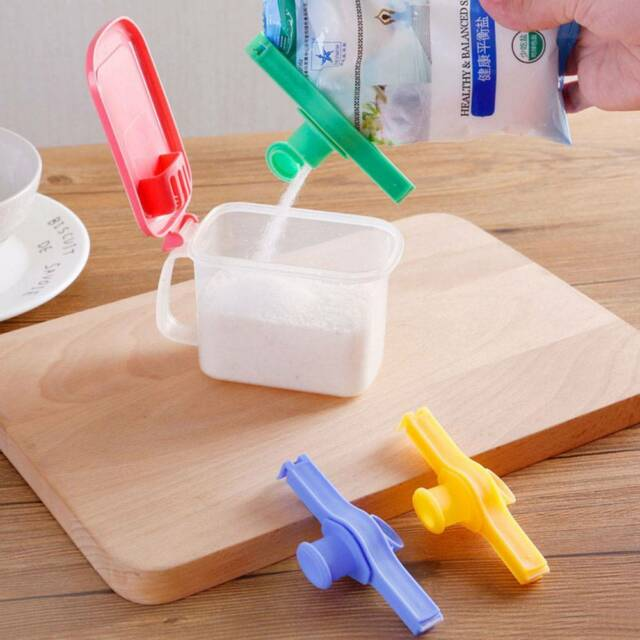 Bag Clip Storage Food Fresh Clips Sealing With A Cap Type Spray Nozzle Reuseable