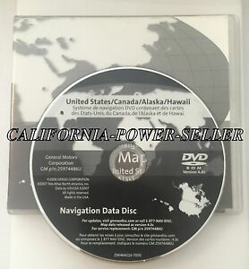 Only 2007 2008 2009 Cadillac SRX Navigation OEM DVD Map disc U.S ...