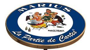 PLATEAU DE TABLE DE BISTROT EMAILLEE MARIUS LA PARTIE DE CARTE MARCEL PAGNOL