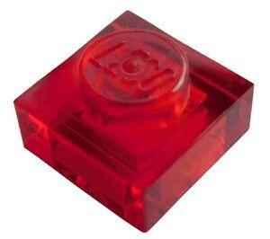 Lego-100x-transparent-rote-Platte-1x1-3024-Neu-Platten-trans-red-Plates-Plate