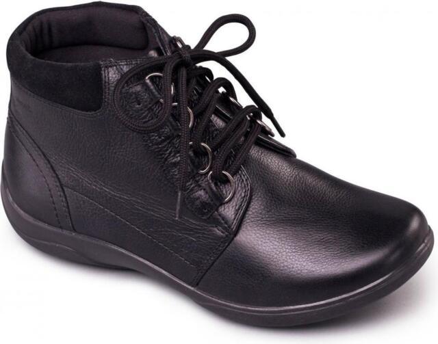 c979c88cdec Padders JOURNEY Ladies Waterproof Leather EEE EEEE Wide Fit Ankle Boots  Black