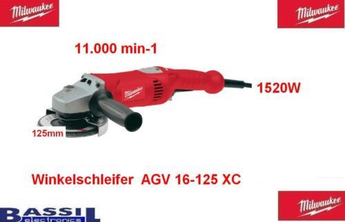 Milwaukee Winkelschleifer  AGV 17-125 XC  4933455140    125mm
