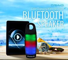 Rugged Craig outdoor IPX4 WATER Resistant Shower bluetooth BASS Speaker 10W watt