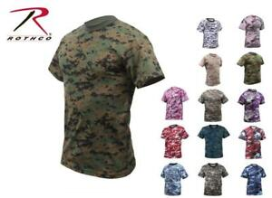 095b50116f16 Image is loading Rothco-Camouflage-Camo-Military-T-shirt-Digital-Subdued-