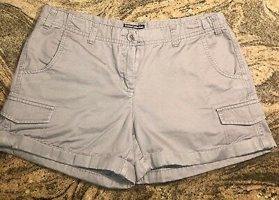 Dalia Collection Moderno Ajuste Pantalones Cortos Gris Talla 6 Ajuste Moderno Ebay