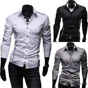 Men-Slim-Fit-Dress-Shirt-Long-Sleeve-Business-Luxury-Formal-Casual-Stylish-Tops