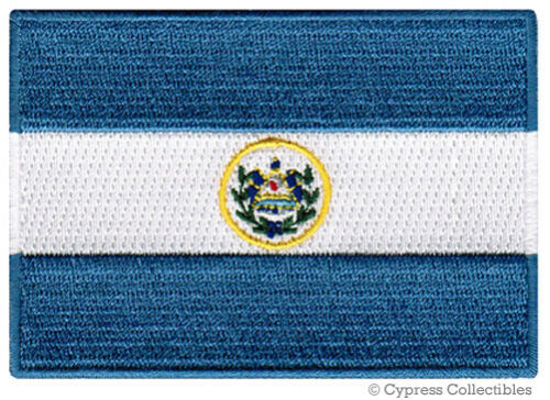 EL SALVADOR FLAG embroidered iron-on PATCH CENTRAL AMERICAN EMBLEM applique