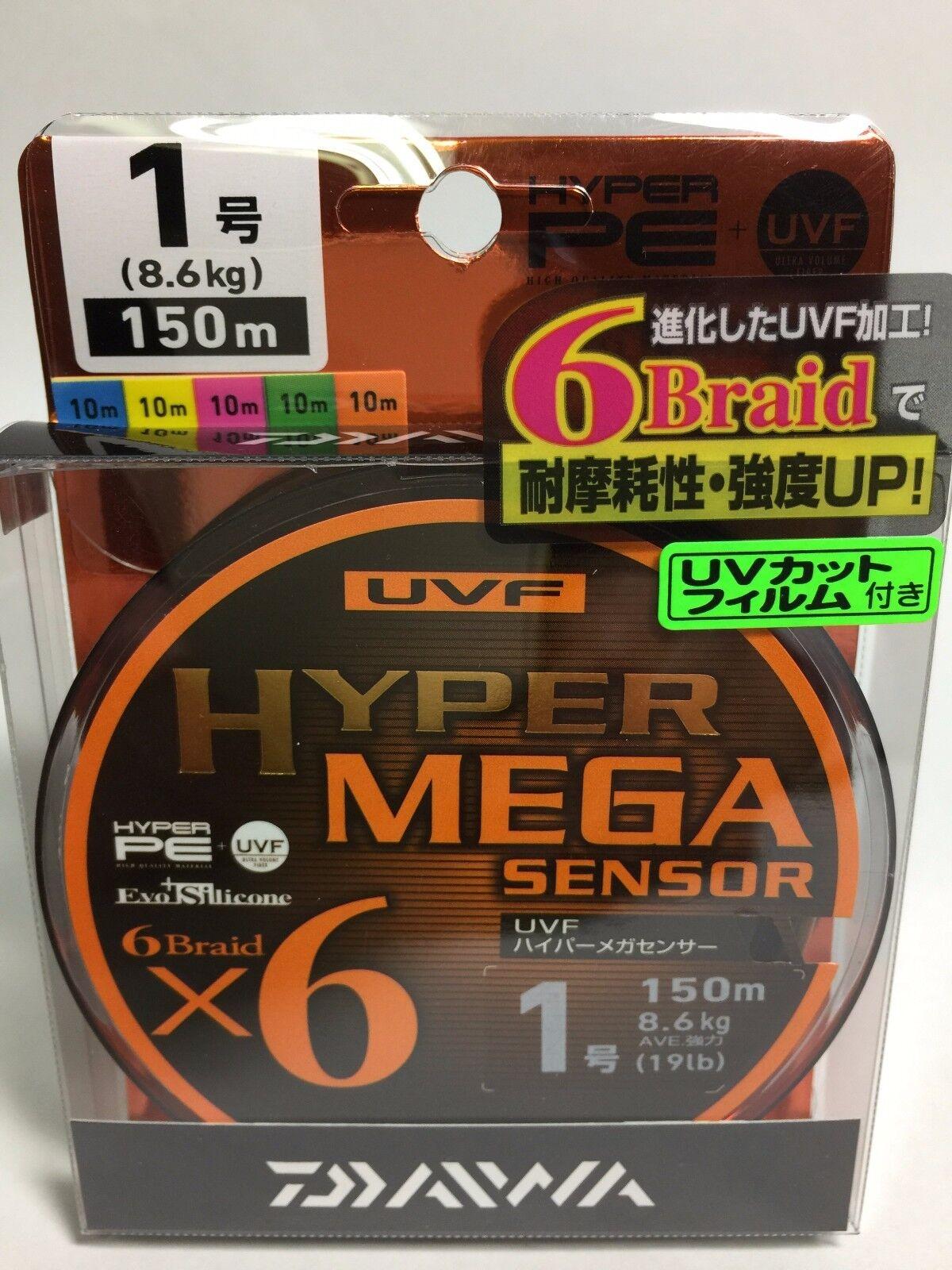 50987) El sensor de Daiwa voluntaria HYPER Mega X6  1 (19lb 8.6kg) 6 150m línea de polietileno trenzado
