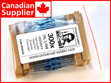300 pcs 30 values metal film resistor kit 1%, 1/4W - high quality - from Canada