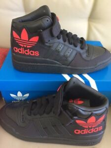 uomini adidas originali forum metà rs xl s75967 nero ray / red