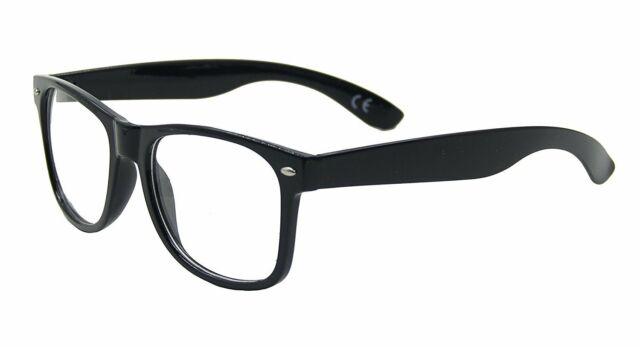 NEW Fake Black Square Frame Geek Glasses Clear Lens UV Protection Nerd Unisex