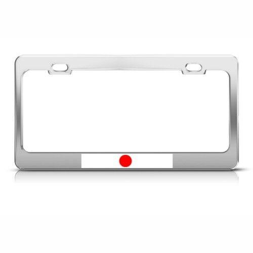 JAPAN JAPANESE FLAG Metal License Plate Frame Tag Holder
