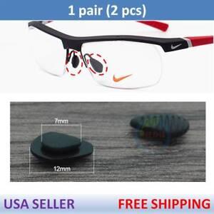 escocés Flojamente su  US Seller for Nike Eye Glasses Premium Silicone Nose Pads Nosepads x1 Pair  Black | eBay