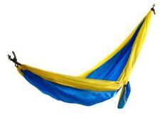 castaway pa 7002 travel parachute camping hammock blue  u0026 gold castaway hammocks nylon parachute hammock   ebay  rh   ebay