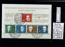 (E4247) Bund Block 2 Beethoven mit Ersttagsstempel und Gummierung