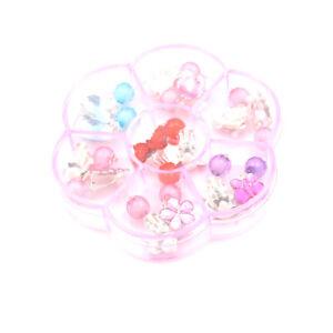 7Pair//Box Lovely Earrings Clip-On No Pierced Pendant Design For Children Kids TE