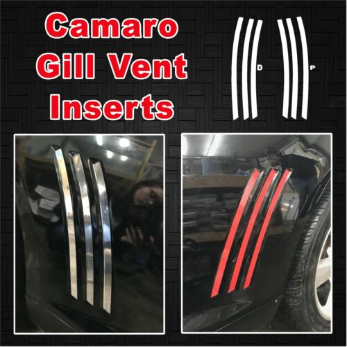 Will Fit Chevrolet Camaro 2010-2015 Side Gill Vent Inserts Vinyl Decals