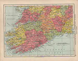 Map Of Shannon Ireland.Details About 1925 Map Ireland Section 3 South Of The Shannon Cork Limerick Kerry Clare