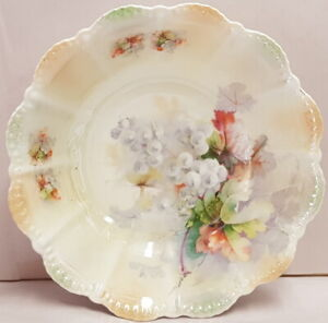 Vintage-Porcelain-Steinmann-Tiefenfurt-Selisia-Lustre-Scallop-Edge-Bowl-c1932-38