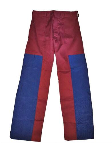 "Burgundy Work Trousers Drivers Top Quality British Made Workwear 34/"" Waist"