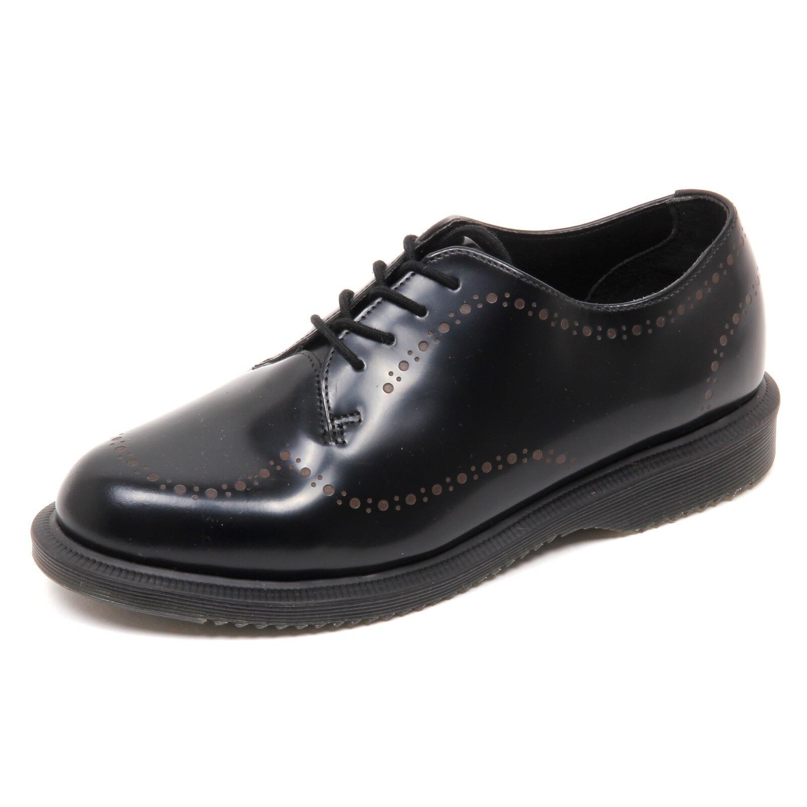 D4042 (without box) scarpa donna DR. MARTENS CHARLOTTE SMOOTH nero shoe woman