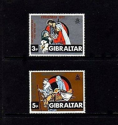 GIBRALTAR - 1971 - CHRISTMAS - NATIVITY - HOLY FAMILY - MINT - MNH SET!