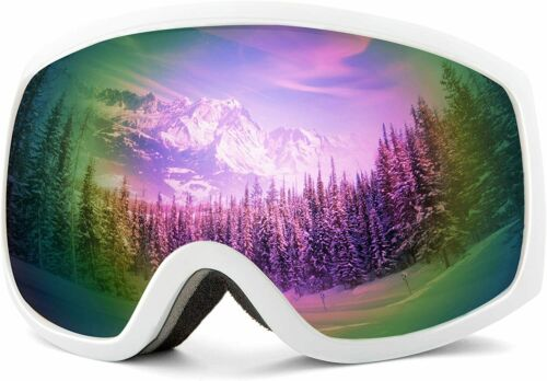 Details about  /Wantdo Anti Fog Ski Goggles Double Layer Spherical Lens OTG Snow Goggles with 10