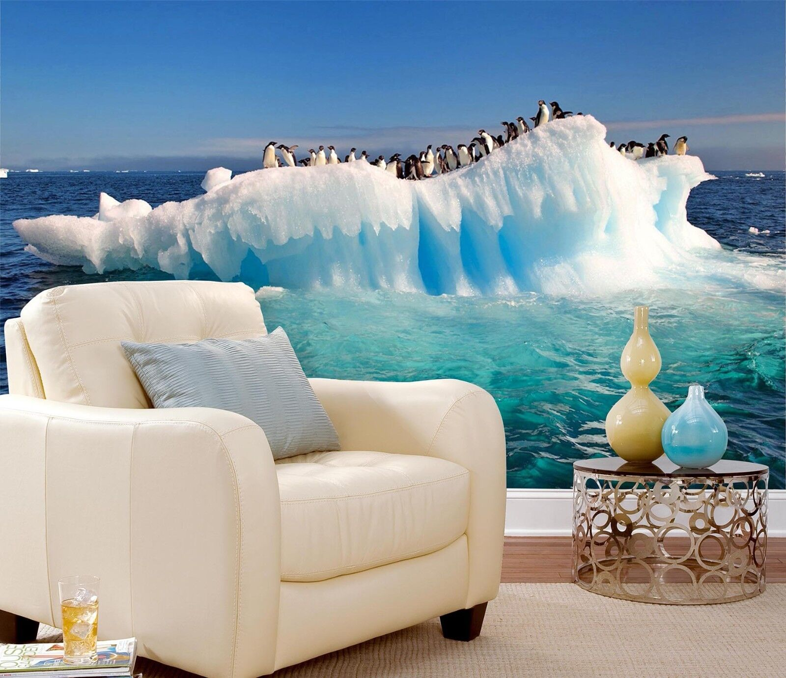3D Gletscher Pinguin 757 Tapete Wandgemälde Tapeten Bild Familie DE Lemon  | Düsseldorf Eröffnung  | Mode-Muster  | Online Shop