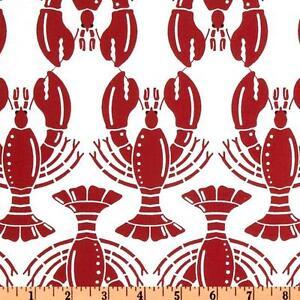 Lobster-fabric-Hoodie-Nautical-Sea-Ocean-Novelty-Craft-Fabric