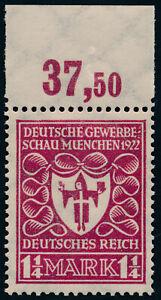 DR-1922-MiNr-199-b-tadellos-postfrisch-gepr-Dr-Oechsner-Mi-90