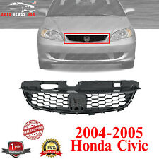 Black Front Grille For 2004 2005 Honda Civic Coupe Fits 2004 Honda Civic