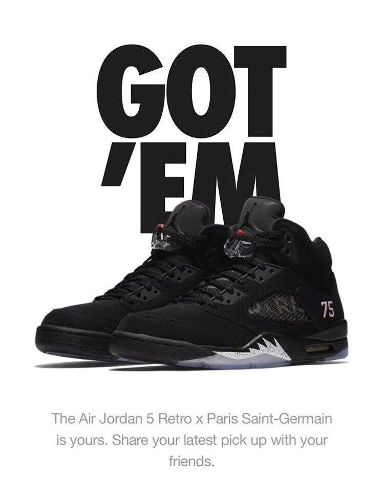 Nike Air Jordan Retro V V V PSG Size 8 bc0728
