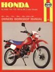 Honda XL/XR80, 100, 125, 185 and 200 2 Valve Models, 1978-87 Owner's Workshop Manual by Chris Rogers (Paperback, 1965)