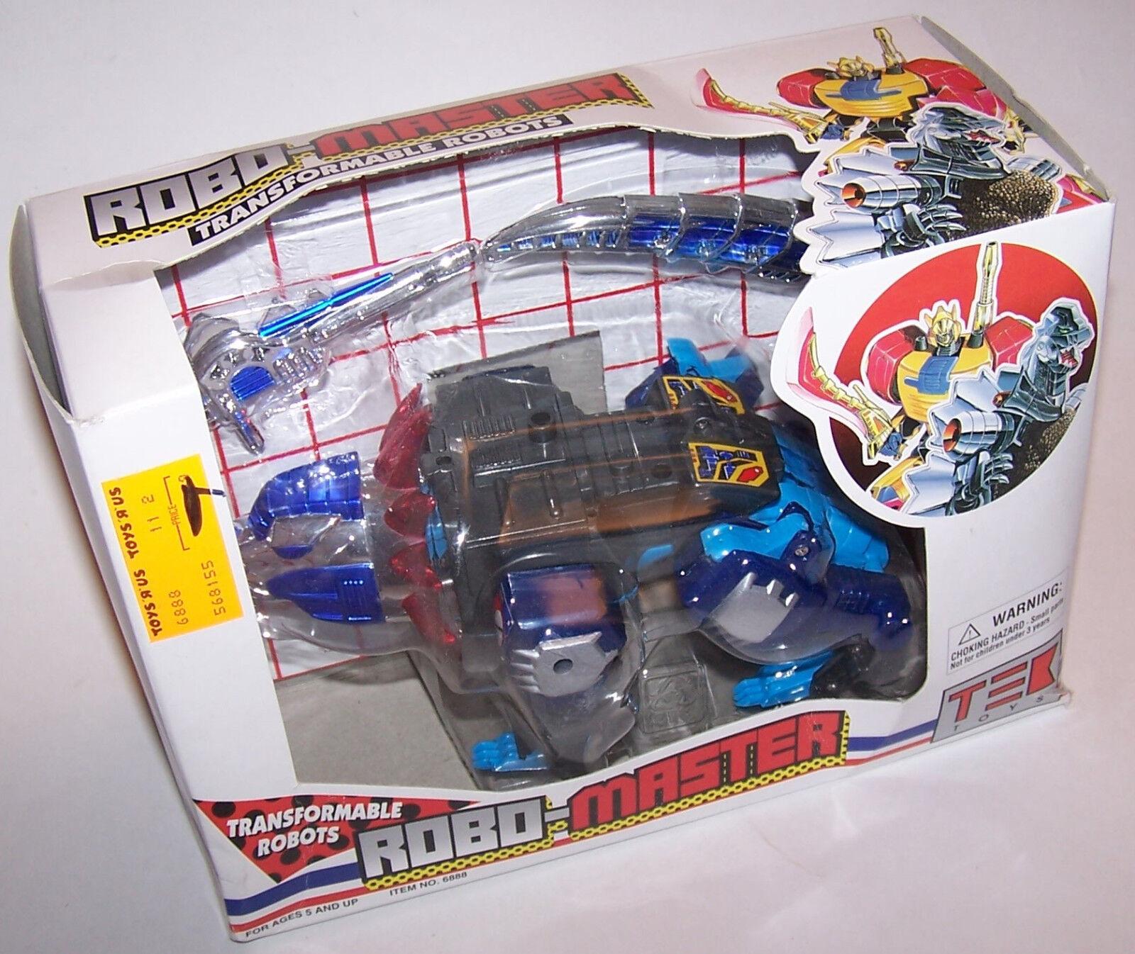 Vintage Robo-Master bleu Dino-Guerrier Transformable robot par Tek Toys