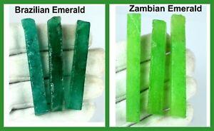 Best Deal Zambian & Brazilian Emerald 360 Ct 6 Pcs Gems Slice Rough Lot Natural