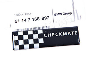 Genuine Mini R50 R53 Coupe Rear Side Window Sticker Checkmate Oem