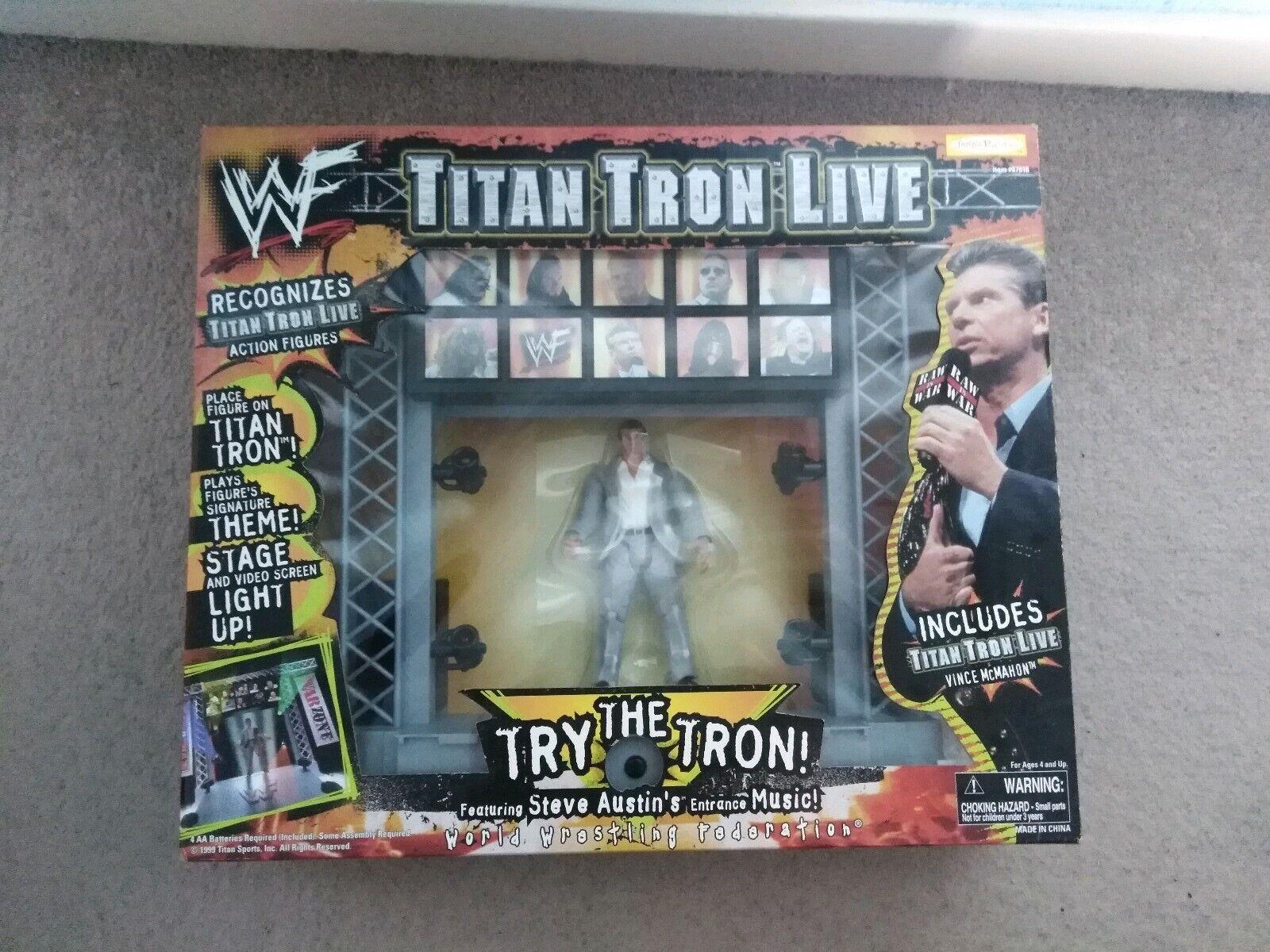 WWF WWE Titan Tron MIB MOC