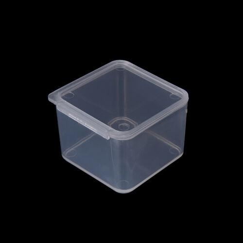 3x Small Travel Clear CG Transparent Storage Box Case PU Superhard Plastic Pip