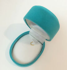New Turquoise Blue Color Velvet Jewelry Necklace Chain Pendant Charm Gift Box