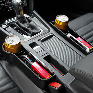 1x-Car-Seat-Side-Pocket-Slit-Plastic-Catcher-Box-Gap-Storage-Organiser-Black