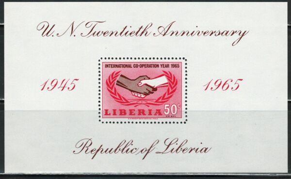 Brillant Comme Neuf Libéria Souvenir Sheet Scott # C167 (neuf Sans Charnière)