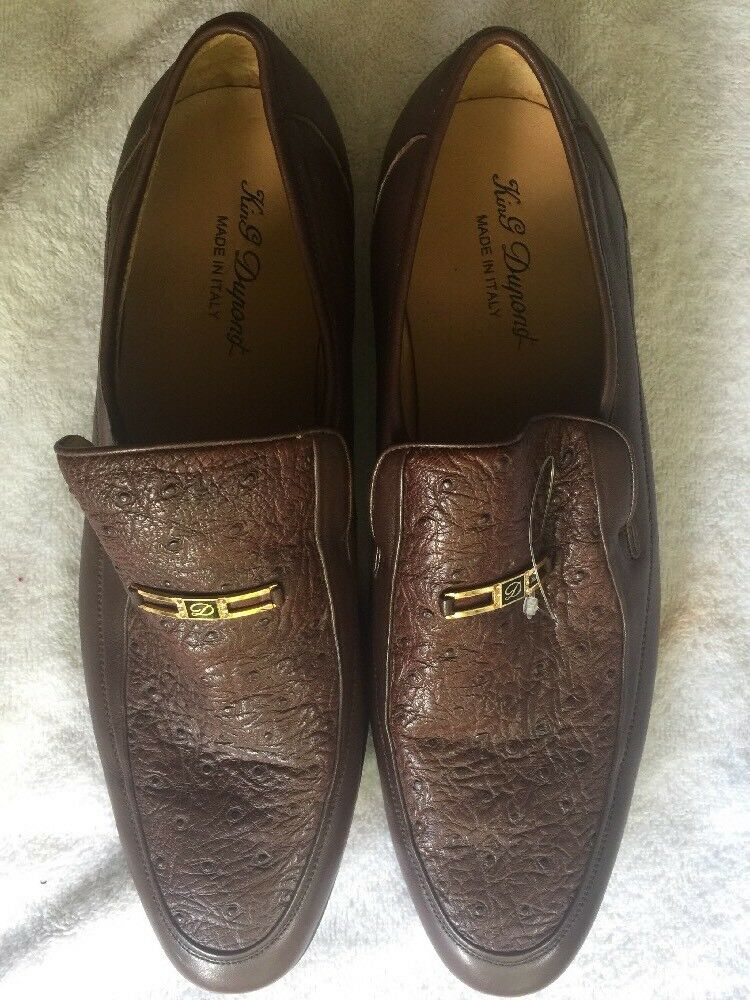 KING DUPONG Caoutchouc 100% Made Italy Dress Oxfords BR Shoes Uomo SZ 45 - US 11