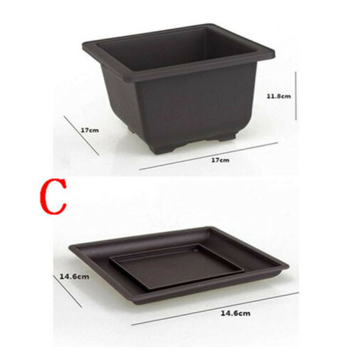 Tray Kit Flower Pot Balcony Rectangle//Square Bonsai Bowl Nursery Basin Planter