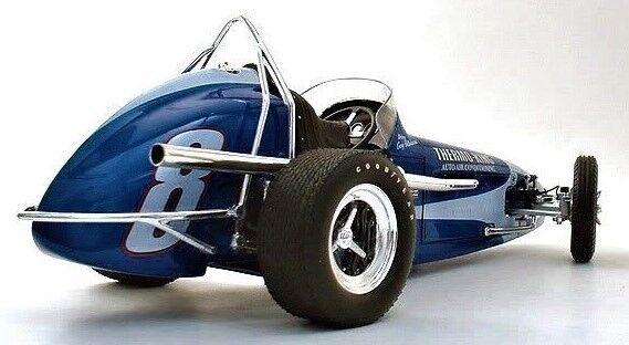 1 Vintage Racer Race Sport Car F Midget GP Sprint 12 Dirt 1960s Indy 18 Metal 24
