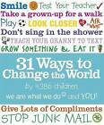 31 Ways to Change the World by We Are What We Do (Paperback, 2010)