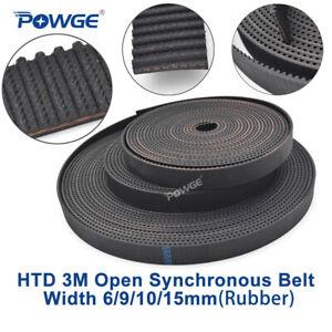 HTD3M-177mm Synchronous Timing Belt Width 15mm 59Teeth Rubber Drive Belts 1pcs